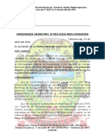 Ordenanza Municipal Uchuraccay