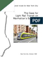 Manhattan 2nd Ave Light Rail Study, Circa 1999