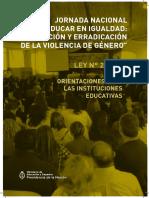 Jornada Nac Educar en Igualdad Orientaciones