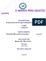 Tarea IV Evaluacion de Los Aprendizaje Damelia Mercedes