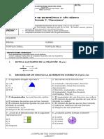 Evaluación N° 7 Matemática 3°