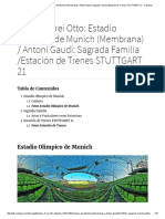 Estudio_ Frei Otto_ Estadio Olímpico de Munich (Membrana) _ Antoni Gaudí_ Sagrada Familia _Estación de Trenes STUTTGART 21 - Casiopea