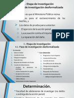 Etapas de Investigación del Ministerio Público