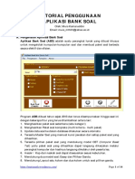 Tutorial Pengunaan Aplikasi Bank Soal