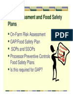 8B Risk Assessment Food Safety Plans 2016