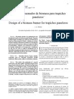 Diseno de Quemador de Biomasa Para Trapiches Paneleros