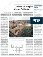 Un refugio de la Guerra Civil desafía el derribo del Taller de Artillería (El País Madrid - 25/10/2016)
