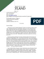 102516 Gates Resignation Letter