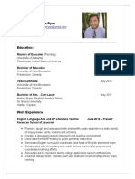 jonathan ryan - resume