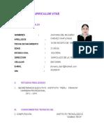 Curriculum Vitae Jhovana Sin PDF