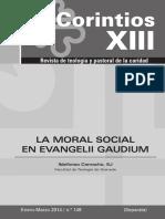 Evangelii Gaudium y Moral Social - Cor X