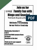 5th grade bingo - oct 25 2016 - 4-26 pm