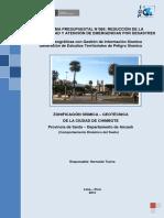 Zonificación Sísmica - Geotécnica de La Ciudad de Chimbote