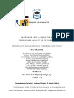 Determinantes Sociales Vigentes de Salud Pública Grupo# 3 N1
