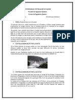 Centrales Hidroeléctricas Del Ecuador