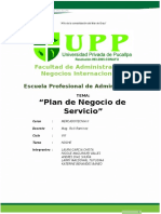 Plan de Negocio Servicio de Gestion Upp