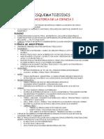 Apuntes UNED - Esquematozoides de Historia de La Ciencia
