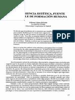 Alfonso López Quintas_la Experiencia Esttica Fuente Inagotable de Formacion Humana