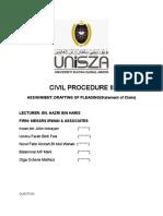 Drafting Pleading (Statement of Claim)