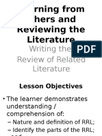 Writing the RRL