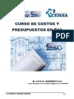 CURSO S10 COSTOS Y PRESUPUESTOS Cersa Ingenieros 2016