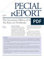 Tax Foundation The Economic Effects of the Lower Tax Rate on Dividends(Letting the Bush Tax Cuts Expire)