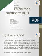 Análisis de roca mediante RQD