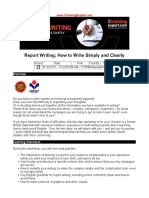 Report Writing How to Write Simply and Clearly