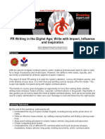 PR Writing in the Digital Age Write With Impact Influence and Inspiration