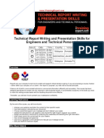 Technical Report Writing and Presentation Skills for Engineers and Technical Personnel