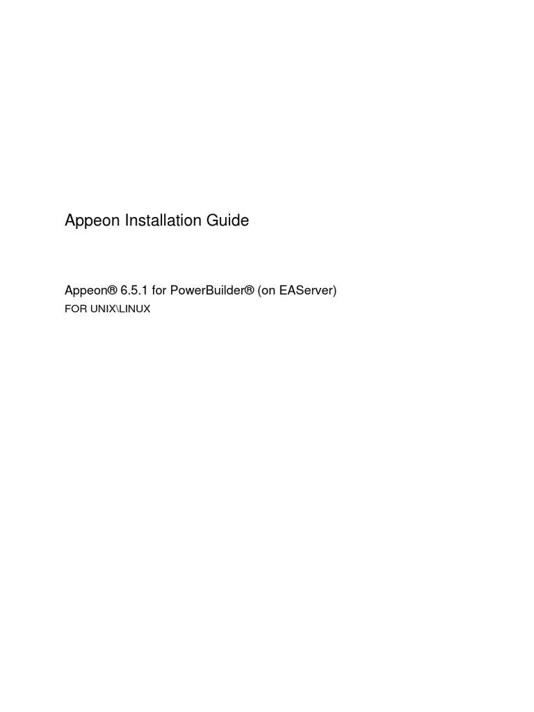 appeon installation guide for eas unix web server web application rh scribd com PowerBuilder Body tutorial power builder 6.5