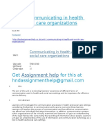 Unit 1 Communication in Health and Social Care