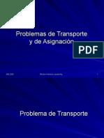 Clase 1 - Problemas de Transporte y de Asignación