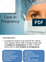 Critical Care in Pregnancy