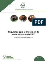 FSC-STD-40-005 V3-0 ES Requisitos Para La Obtención de Madera Controlada FSC