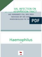Bacterial Infection on Upper Respiratory Tract Hemofillus Moraxella Fusobacterium
