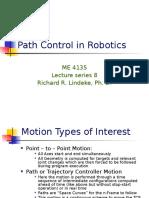Robotic Path Control Techniques