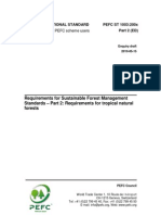 PEFC ST 1003200x ED SFM Requirements Part 2 Tropical Forests