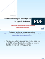 Self Monitoring of Blood Glucose