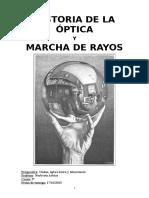 Historia de La Óptica y Marcha de Rayos