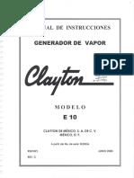 Generador de Vapor Clayton Modelo e10 052016