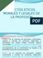 Aspectos Morales y Eticos de La Profesión