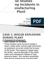 Case Studies Involving Incidents in a Manufacturing Plant