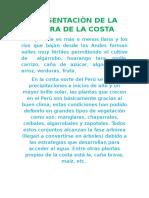 Presentaciòn de La Flora de La Costa