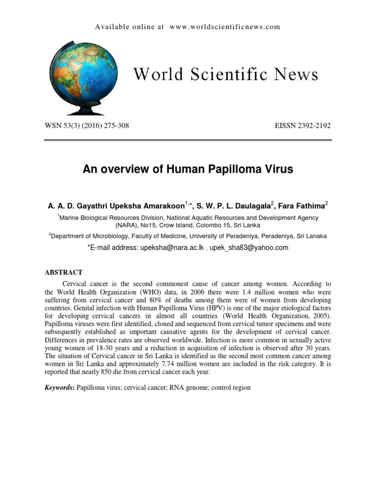 Humán papillómavírus (HPV) vizsgálat   Lab Tests Online-HU