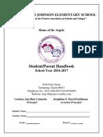LBJ StudentParent Handbook SY1617 Revised 10.26.2016