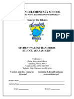 TAMES StudentParent Handbook SY1617 Revised 10.26.2016
