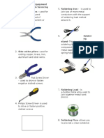 Common Tools and Equipment for Computer System Servicing