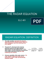 Lecture 2b - The Radar Equation