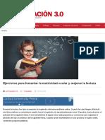 Ejercicios para fomentar la motricidad ocular y mejorar la lectura | Educación 3.0